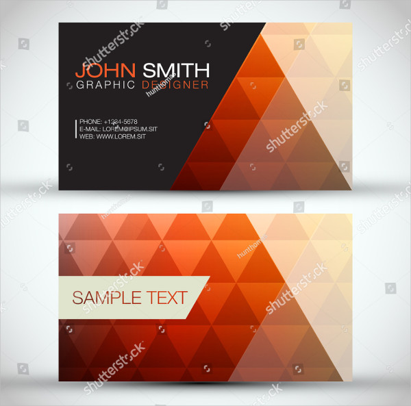 Triangle Layout Business Card Template