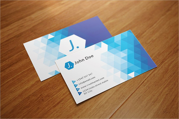 Triangle Polygon Business Cards