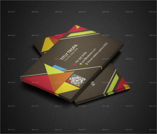 Triangle Shape Business Card