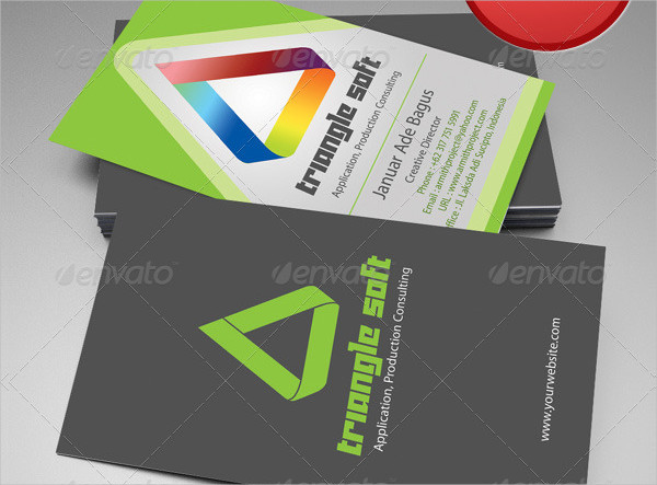 Triangle Soft Business Cards Template