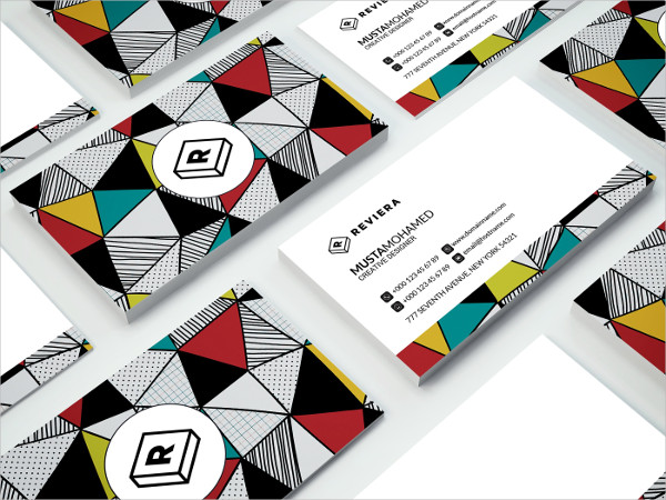 Triangles Pattern Business card