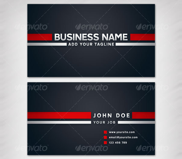 Two Stripes Business Card