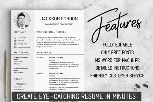 US Letter Creative Resume Design