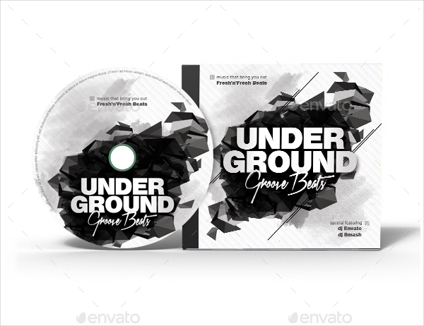 Underground Groove CD Cover Template