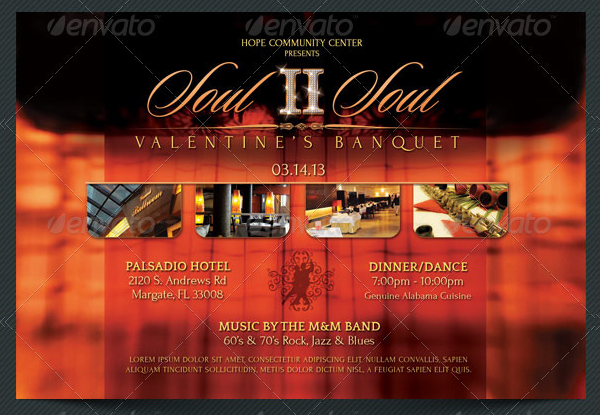 Valentines Banquet Flyers Template