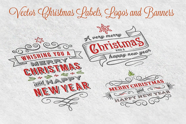 Vector Christmas Label and Banners