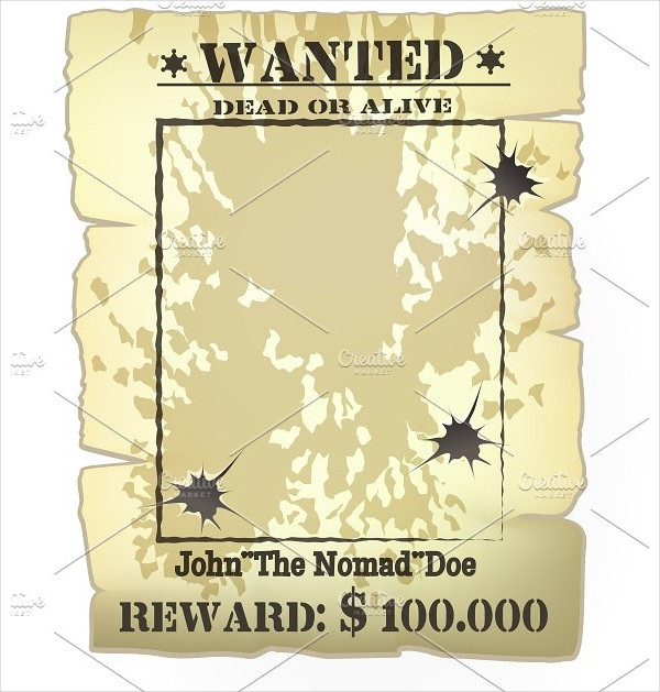 Vector Vintage Western Wanted Poster