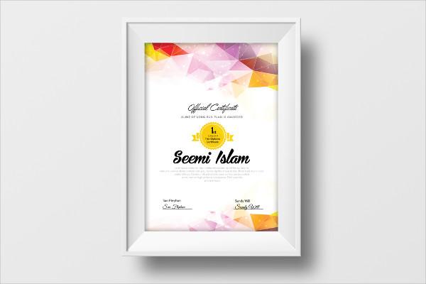 Vertical Certificate Design Template
