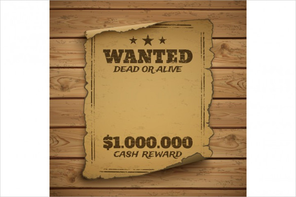 Wanted Dead Alive Poster Template