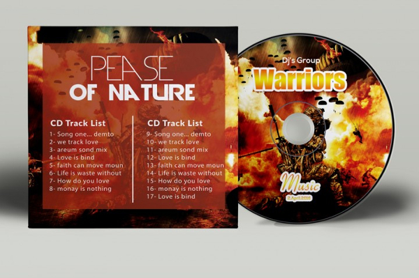 Warrior CD Cover PSD Template
