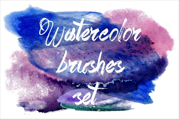 Watercolor Beautiful Brushes Set