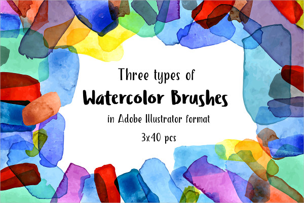 Watercolor Clipart Brushes