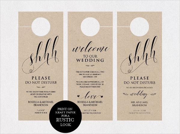 Wedding Door Hangers