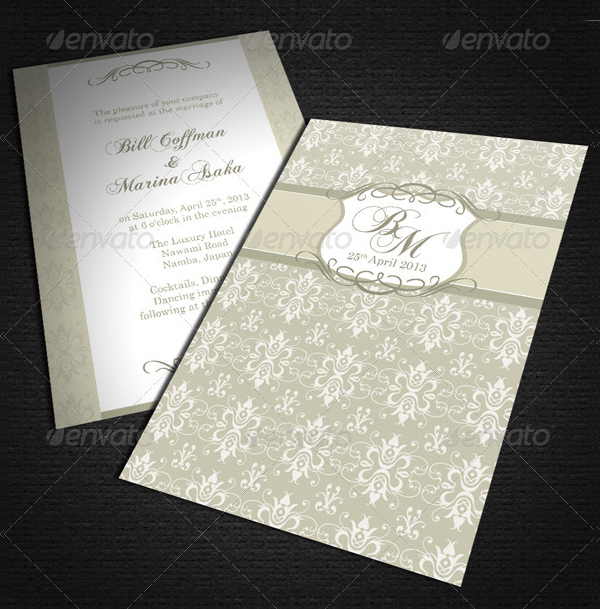 Wedding Luxuary Card Template