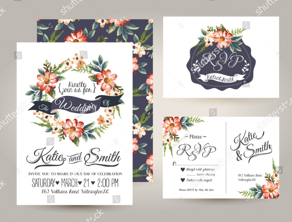 Wedding Vector Card Templates