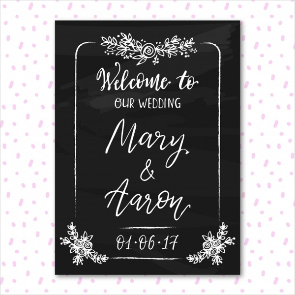 Wedding Blackboard Design Free Vector