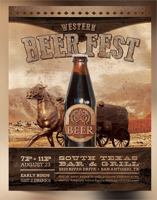 Western Beer Fest Poster Templates