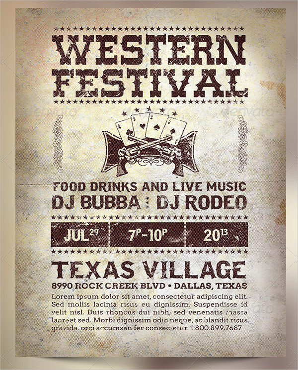 Western Festival Poster Templates