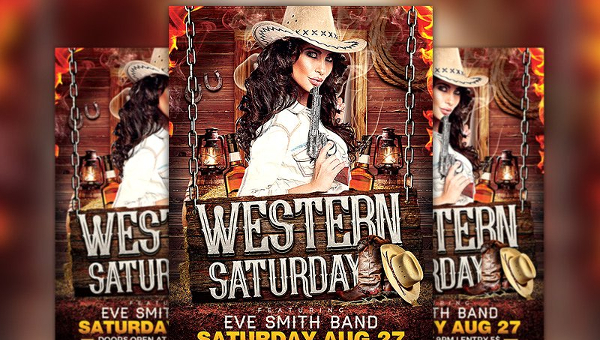 photo regarding Free Printable Western Templates identified as 21+ Western Poster Templates - Cost-free Printable, Pattern
