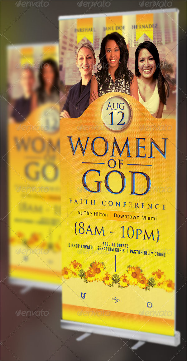 Women Of God Church Banner Templates