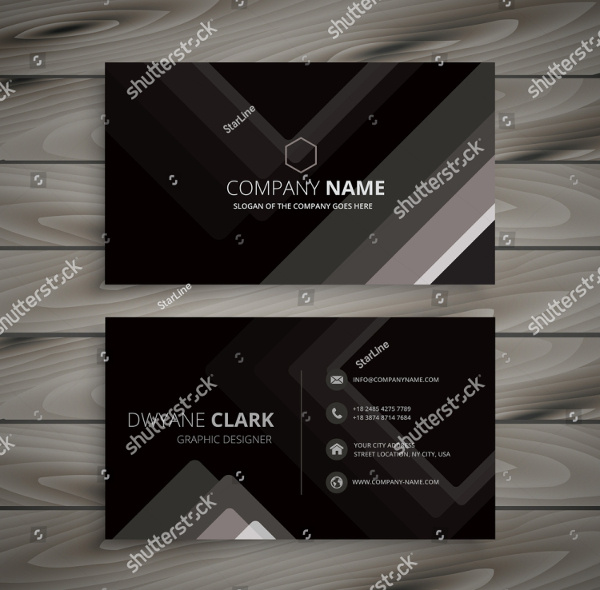 Black Dark Stripes Business cards