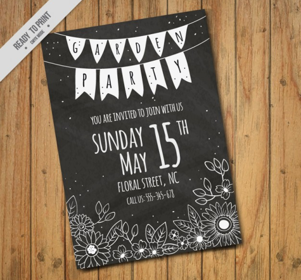 Modern Blackboard Flyer Free Vector