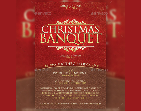 Christmas Banquet Church Flyer