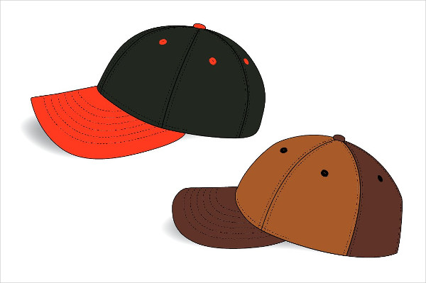 6 Panel Hat Mock-ups Templates