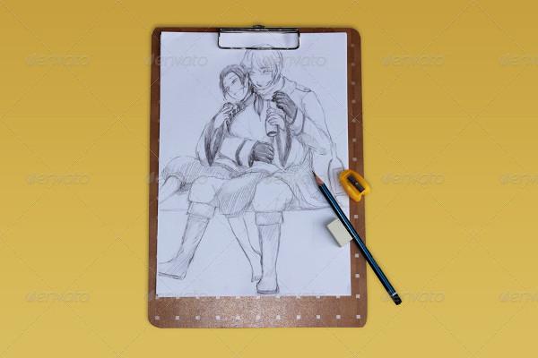 A4 Sketch Mockup Templates
