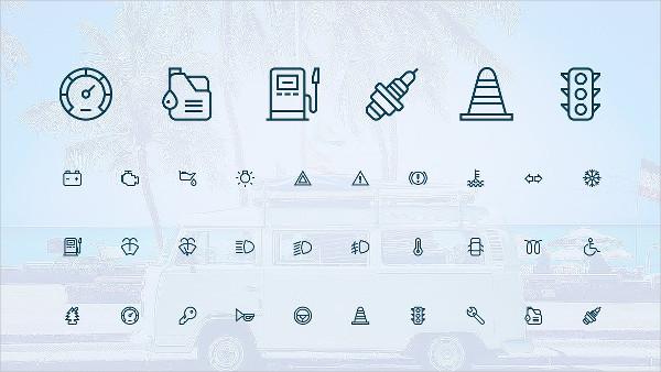 Auto Service Car Icons