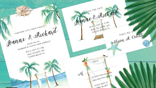 17 beach wedding invitations free psd eps indesign downloads
