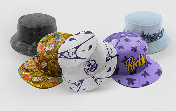 Cap Bucket Hat Mockup Bundle Templates