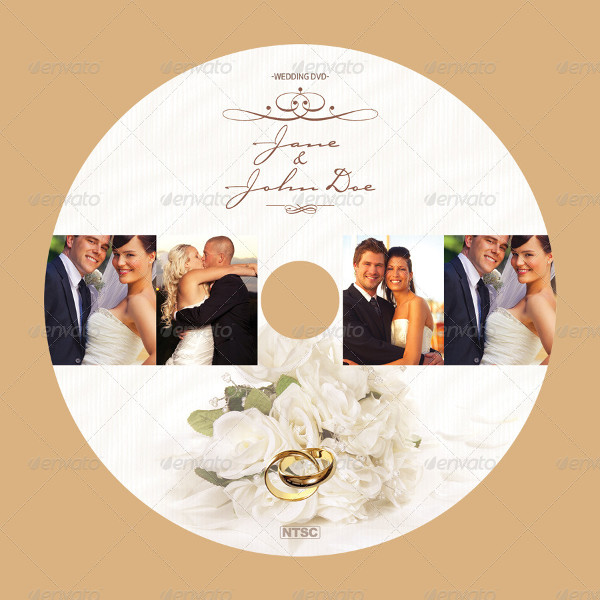 free wedding dvd cover template psd