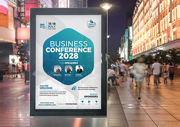 Conference Advertisement Poster Template