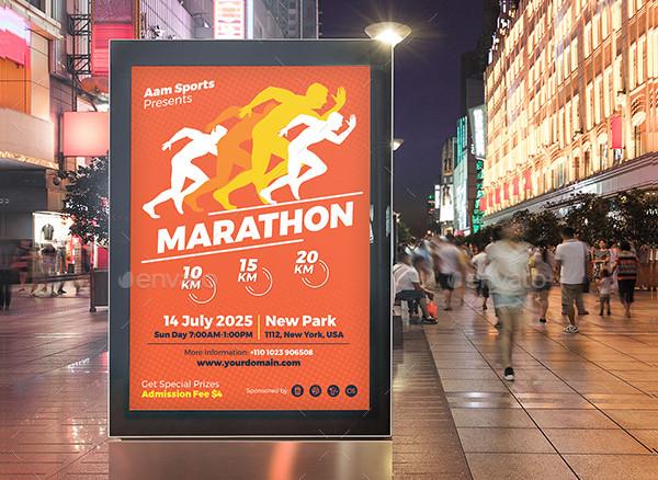 Conference Marathon Event Poster Template