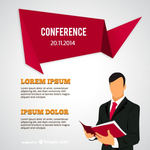 Conference Posters With Businessman Free