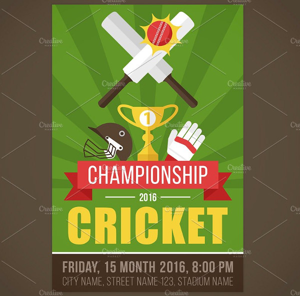 Cricket Student Flyer Template
