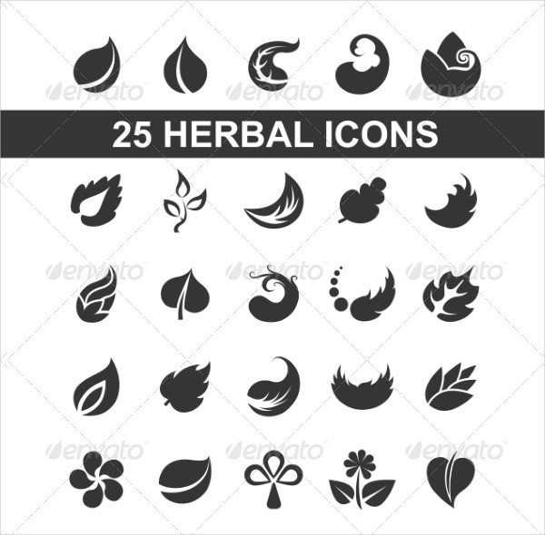 Modern Leaf Herbal Icons