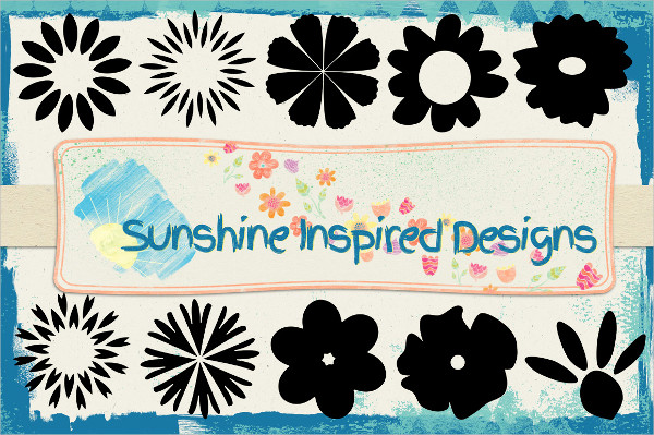 Sunshine Flower Shapes And Brushes
