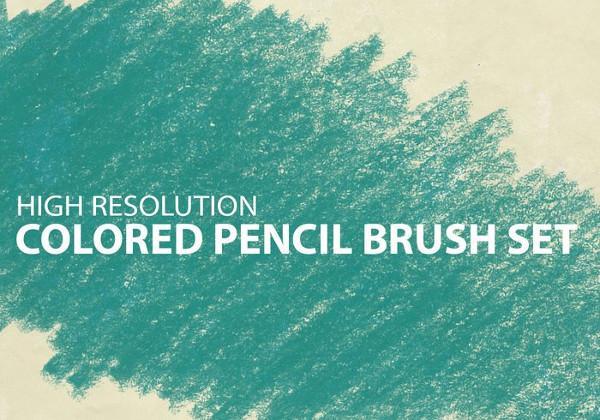 Free Colored Pencil Brush Set
