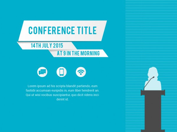Free Conference Vector Poster