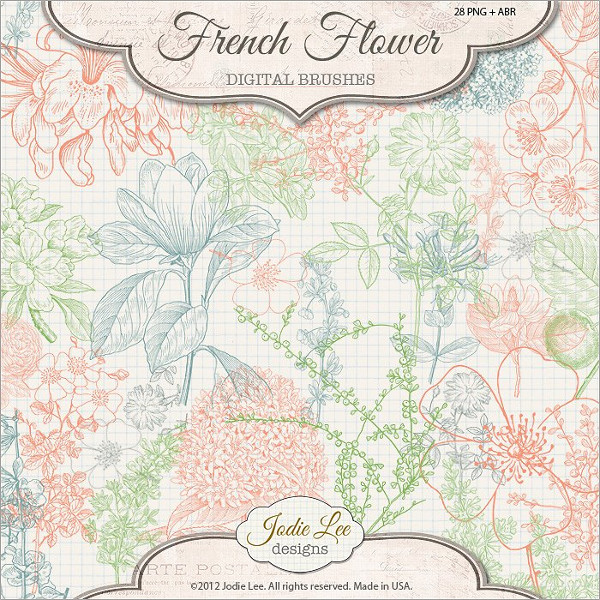 French Flower Brushes