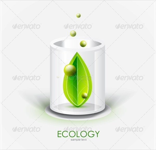 Glass Vessel And Leaf Nature Icon