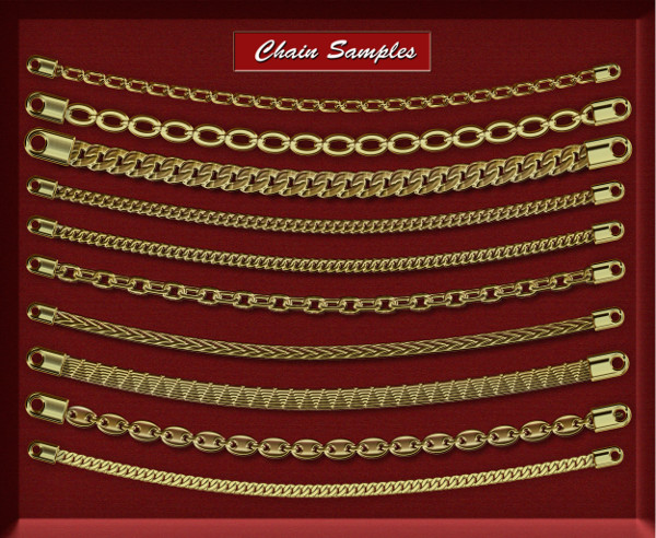 Gold Chain Jewellery Brushes Kit