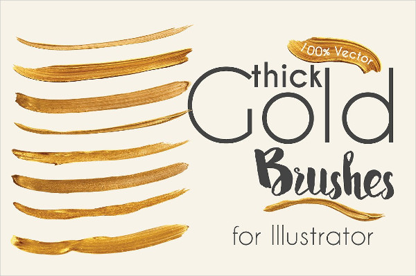Gold Paint Brushes For Illustrator