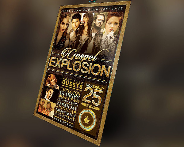 Gospel Explosion Flyer Plus Poster