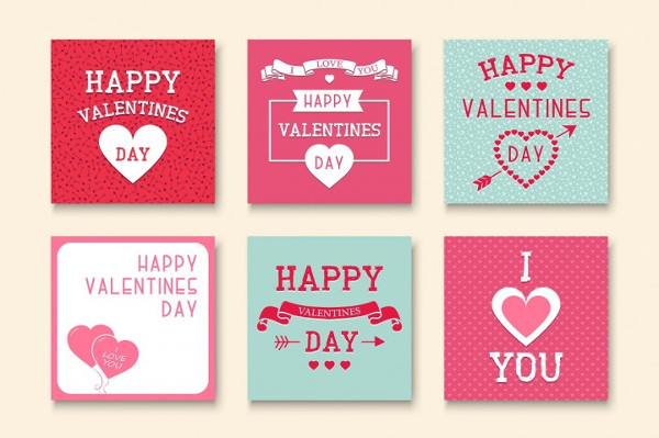 Editable Valentines Day Greeting Cards