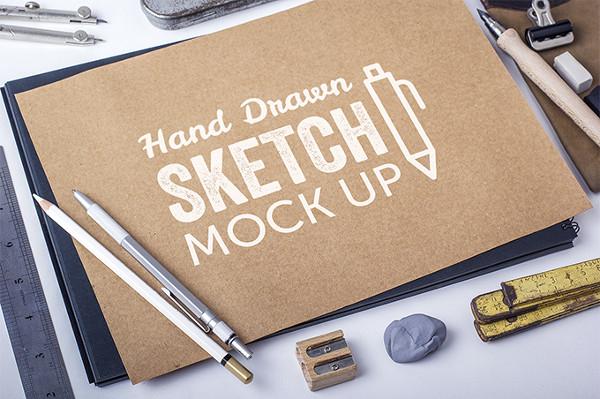 Free Hand Drawn Sketch Mock-Ups