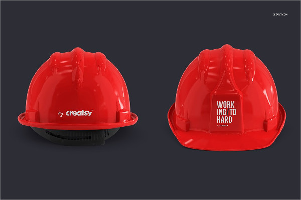Hard Hat Mockup Templates Set