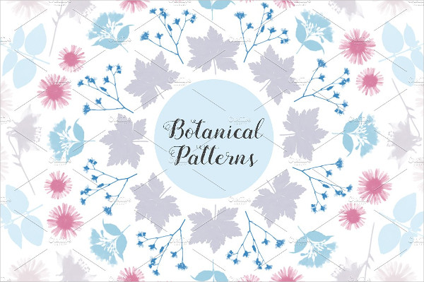 Botanical Flower Brushe Template